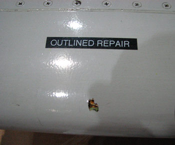 Outline repair in composite wing